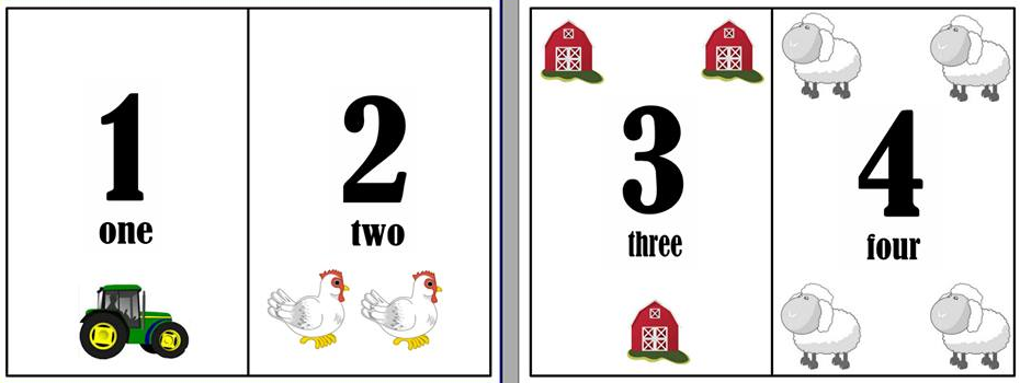 "Numbers 1-20 Flash Cards ""Farm Theme"" 